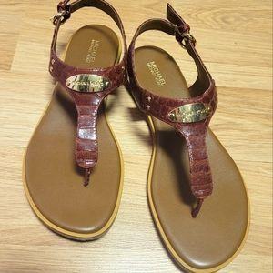 Michael Kors brown leather sandals sz 8 1/2